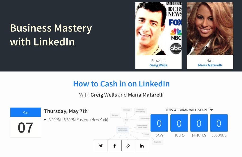 Maria Matarelli and Greig Wells Webinar on LinkedIn