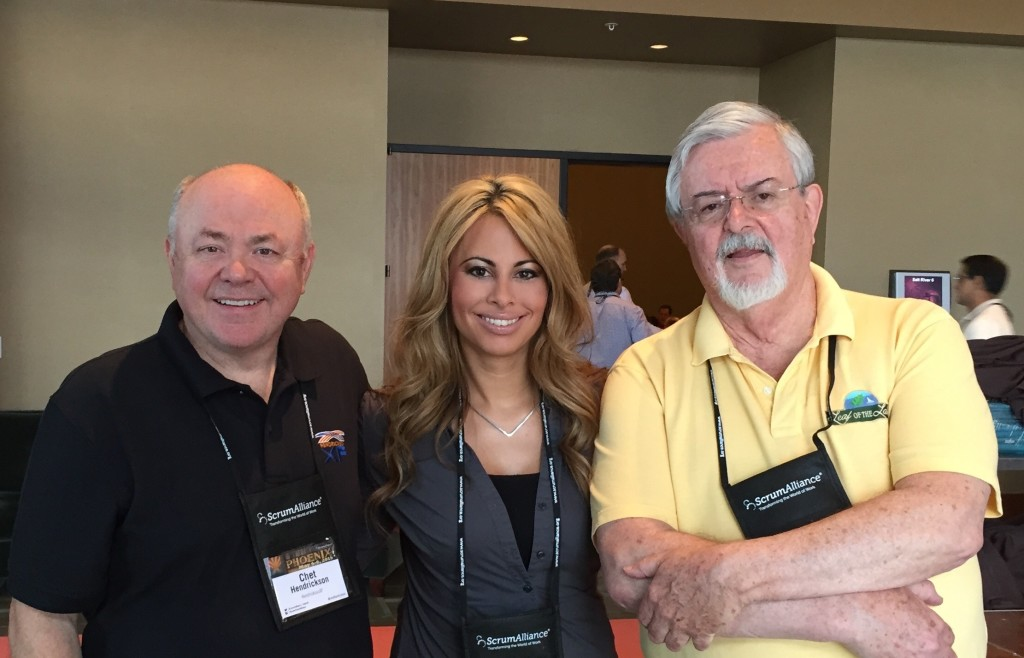 Maria Matarelli and Ron Jeffries and Chet Hendrickson Agile Conference