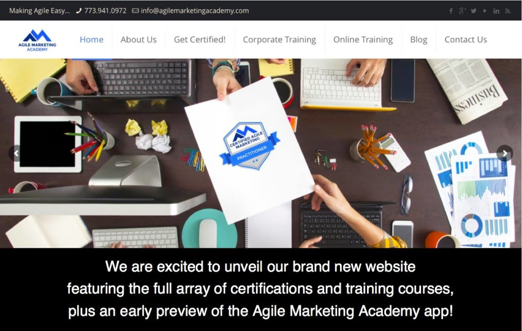 Agile Marketing Academy Website Launch