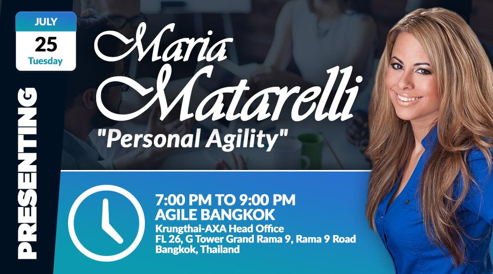 Maria Matarelli_Personal Agility_Agile Bangkok