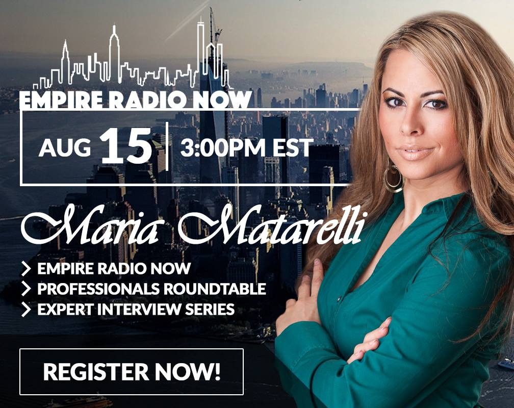 Empire Radio Now Maria Matarelli Expert Interviews